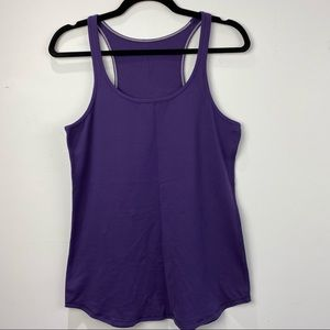 Lululemon dark purple racerback tank top